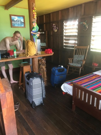 Zac loving the Belize life